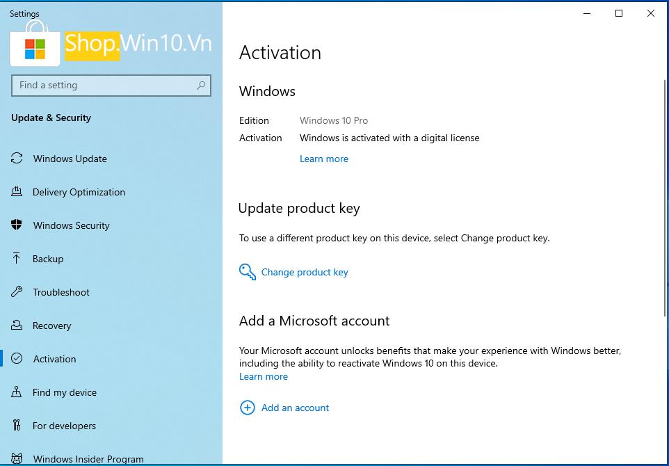 Bán Key Windows 10 Home, Pro, Edu, Enterprise