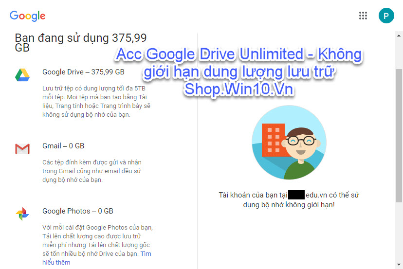 Bán Acc Google Drive Unlimited - Không giới hạn dung lượng lưu trữ