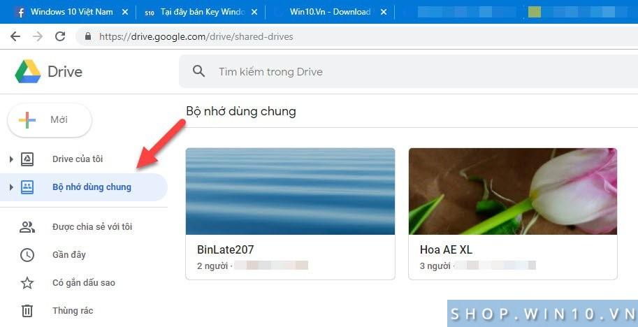 Bộ nhớ dùng chung Google Drive