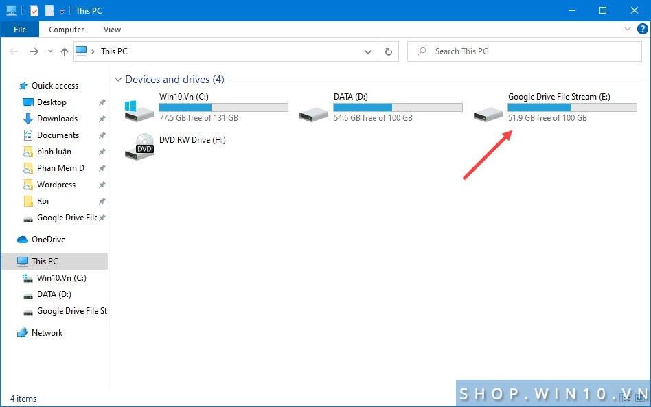 Biến Google Drive thành ổ đĩa máy tính