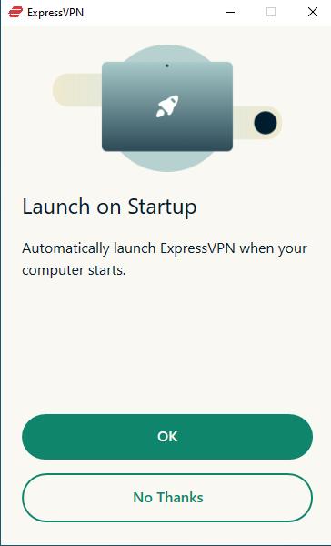 Tùy chọn cho phép ExpressVPN khởi động cùng hệ thống