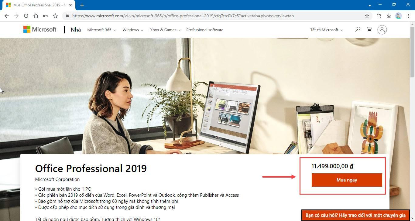 Mua Office 2019 Pro Plus Microsoft