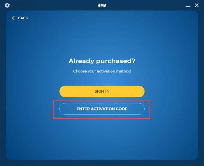 Cách nhập Key HMA