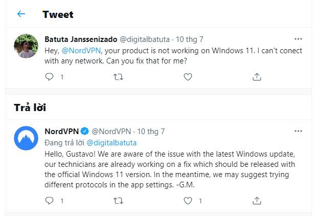 NordVPN Windows 11 not working